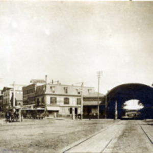 Railroad Station, Central Square, before 1889
