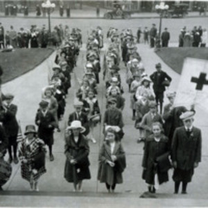 Children of the Whiting Grammar School who raised funds for the Red Cross