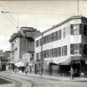 Andrew Street, north side, looking west from Central Avenue