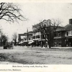 Main Street looking south, Reading, MA