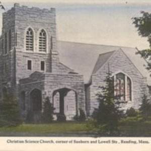 Christian Science Church corner of Sanborn and Lowell Sts, Reading, Mass.