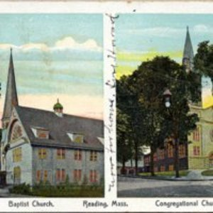 Baptist Church [and] Congregational Church, Reading, Mass.