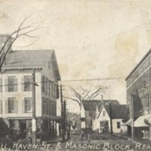 Lyceum Hall Haven Street and Masonic Block, Reading, MA