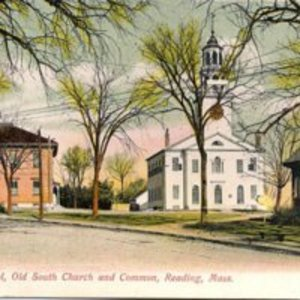 High School Old South Church and Common, Reading, MA