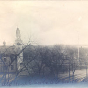 [Old high school and Old South Church]