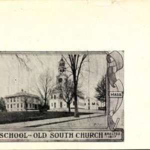 High school Old South Church - erected 1817, Reading, Mass.