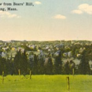 Birds eye view from Bears' Hill, Reading, MA