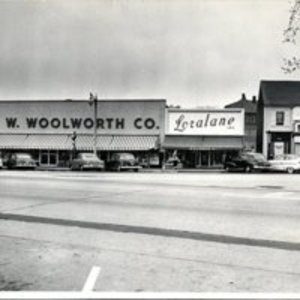 Continuation of west side of Main Street in 1956