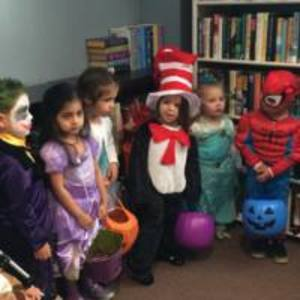 Halloween at the library, October 2014