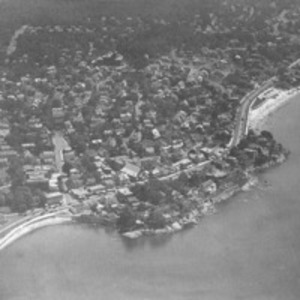 Aerial view of Swampscott, Mass. shoreline