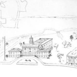 Architectural drawing of proposed Soldiers' Memorial town hall : no. 1