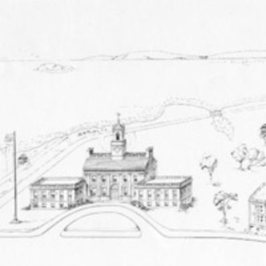 Architectural drawing of proposed Soldiers' Memorial town hall : no.2