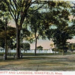 Lake Quannapowitt and lakeside, Wakefield, Mass.