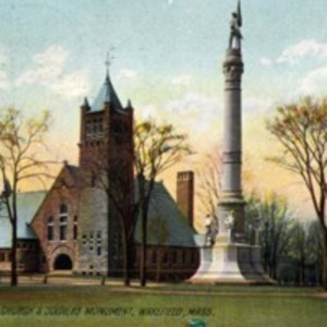 Congregational Church & Soldiers Monument, Wakefield, Mass.