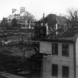 Hathaway stable fire ruins, Oct. 23, 1899