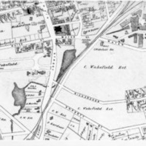 Map of Cyrus Wakefield Estate, Wakefield, Mass.