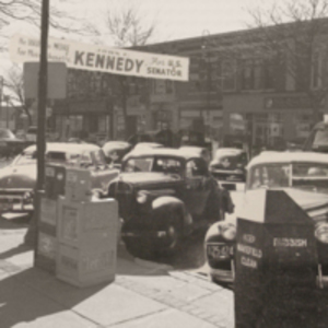 """Kennedy for Senator,"" Main Street, Wakefield, Mass."