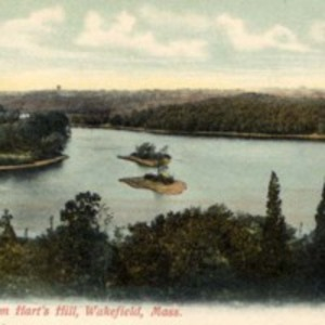 Crystal Lake from Hart's Hill, Wakefield, Mass.