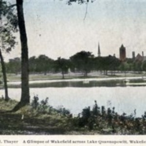 A glimpse of Wakefield across Lake Quannapowitt, Wakefield, Mass.