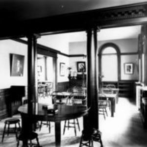 Reading Room, Frost Public Library, ca. 1900