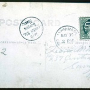 1912 Postcard, AERO Postcard, was flown in the first mail by air, Back of card
