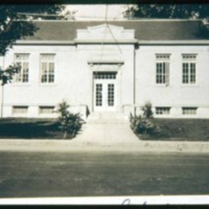 Early picture of the Saugus Public Library