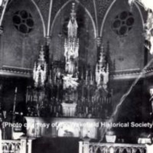 The altar at St. Joseph's Church, circa early 1900s