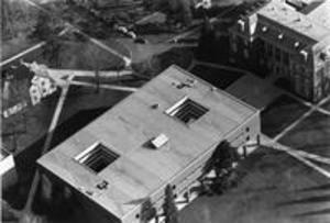 Aerial view of Sawyer Library