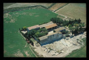 Aerial view of the site, 1974
