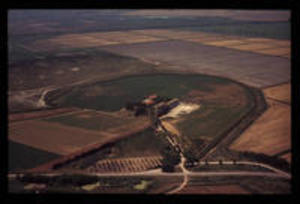 Aerial view of the site, 1975