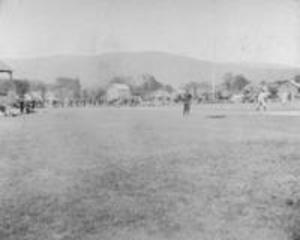 Baseball game on Weston Field, 1897