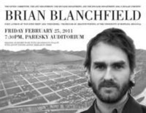 Brian Blanchfield Reading and Discussion