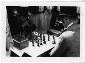 Chess Game at Centennial Baseball Game, 1959