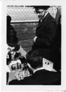 Chess match at Centennial Baseball Game between Amherst and Williams, 1959