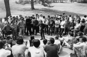 Circle of student strikers, 1970