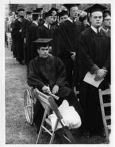Class of 1958 Standing during Commencement