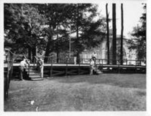 Commencement Stage set-up, 1958