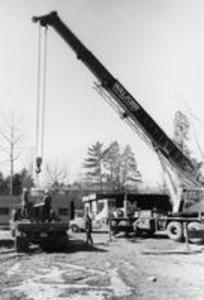 Construction of Sawyer Library