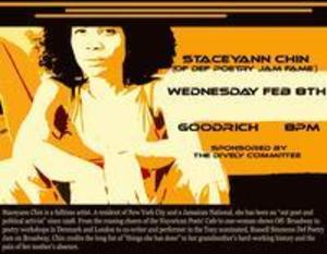 Def Poetry Jam Fame Staceyann Chin