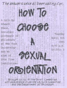How to Choose A Sexual Orientation