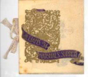 Menu for the Williams College Class of 1894 Marshals' supper