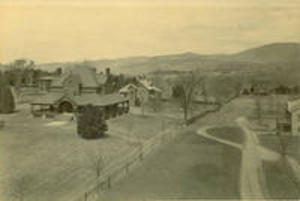 Sigma Phi house with a view to the north, ca. 1890
