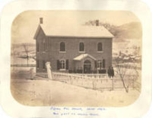 Sigma Phi house, about 1862
