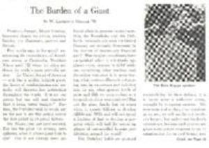 The Burden of a Giant, by W. Lawrence Hollar (Full Document)