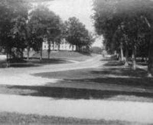 West College and Main Street, 1898