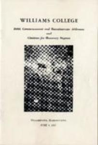 Williams College Commencement and Baccalaureate Addresses, 1957