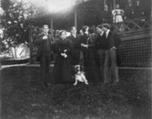 Zeta Psi house party, ca. 1897