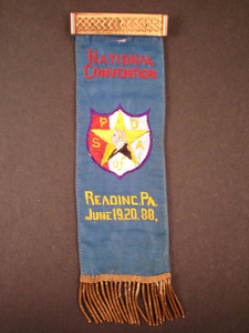 Patriotic Order Sons of America National Convention ribbon, 1888 June 19 and 20