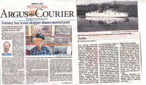 Adam Mello's interview with the Argus Courier on his life