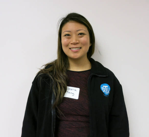 Jessica J. Tang at the Boston Teachers Union Digitizing Day